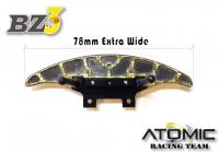 AW-018 / Atomic /Wide Aluminium+Carbon Bumper -Golden
