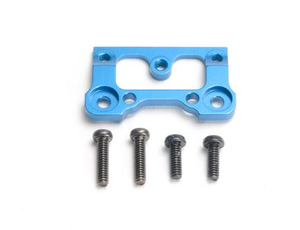 BM001B / PN Racing Mini-Z V2 Alum Interchangeable Front Body Mount Base (Blue) - Bild 1